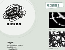 Hierro Animación website