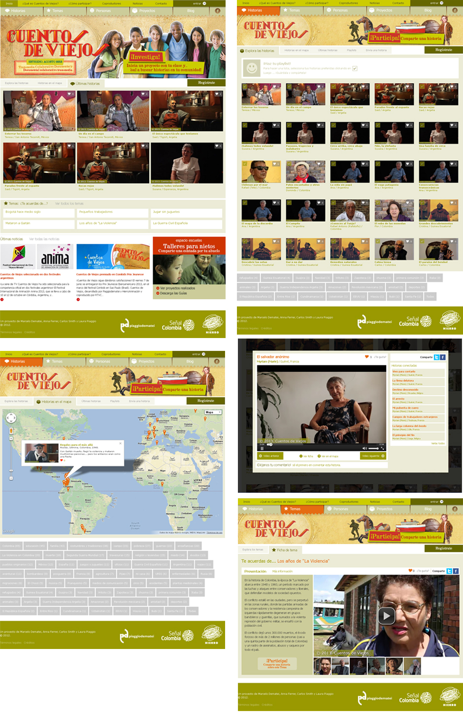 Cuentos de viejos collaborative webdoc